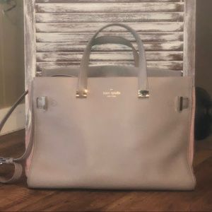 Kate spade gray with pink accents large purse